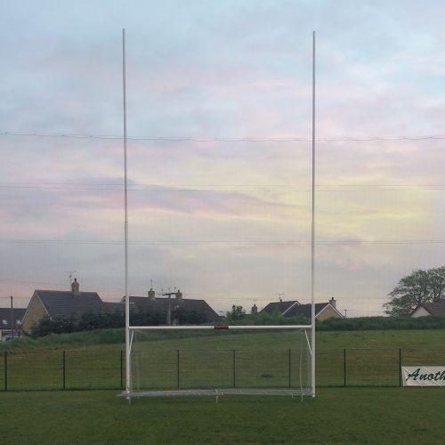 Senior GAA Goal – 11mtrs high (hinged ground bar)