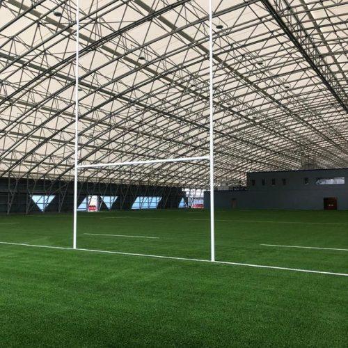 Professional Aluminium Rugby Goals – 11m above ground