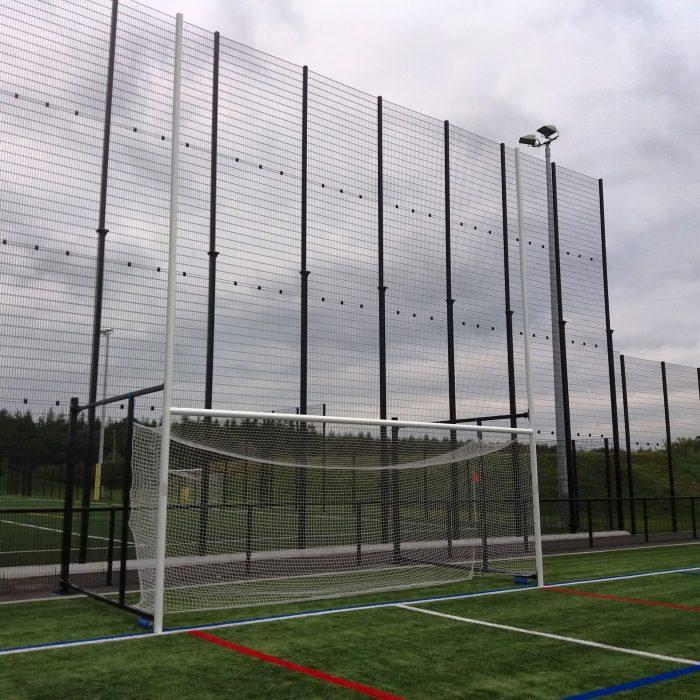 Senior Fence folding GAA Goalposts 6.5m x 2.5m